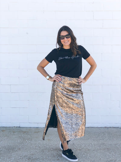 BACKSTAGE SEQUIN SKIRT