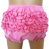 AnnLoren Baby & Toddler Girls Pink Knit Ruffled Butt Bloomer Diaper Cover (3-24 Mo)