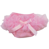 AnnLoren Girls Pink Tutu Ruffled Butt Bloomer Baby/Toddler Diaper Cover