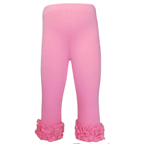 AnnLoren Girls Boutique Pink Ruffle Leggings Set