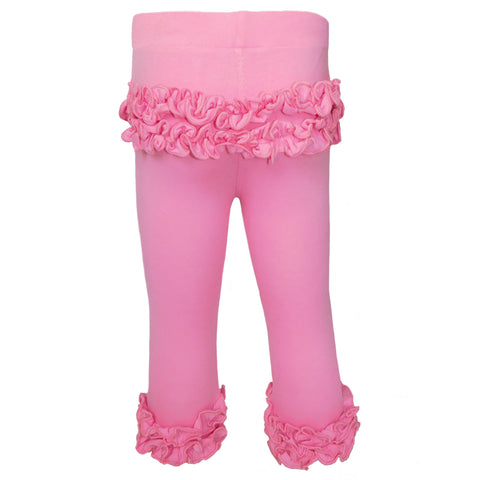 AnnLoren Baby Girls Boutique Pink Ruffle Butt Leggings Set