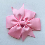 "Set of 3- Baby Pink 3"" Ribbon Bow Clips"