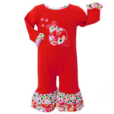 AnnLoren Baby Girls Boutique Winter Polka Dot & Floral Ladybug Holiday Toddler