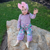 AnnLoren Baby Girls Boutique Unicorns & Rainbows Romper One Piece Soft Cotton sz 6M-24M