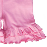 AnnLoren Little/Big Girls Pink Stretch Cotton Knit Ruffled Shorts 4-5T 6-6X 7-8