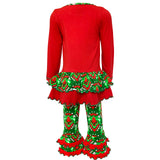 AnnLoren Girls Boutique Winter Holiday Rudolph Reindeer Tunic and Legging Set sz 2/3T-9/10