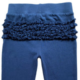 AnnLoren Baby Toddler Big Girls Boutique Navy Ruffle Butt Leggings Set sz 6M-2/3T