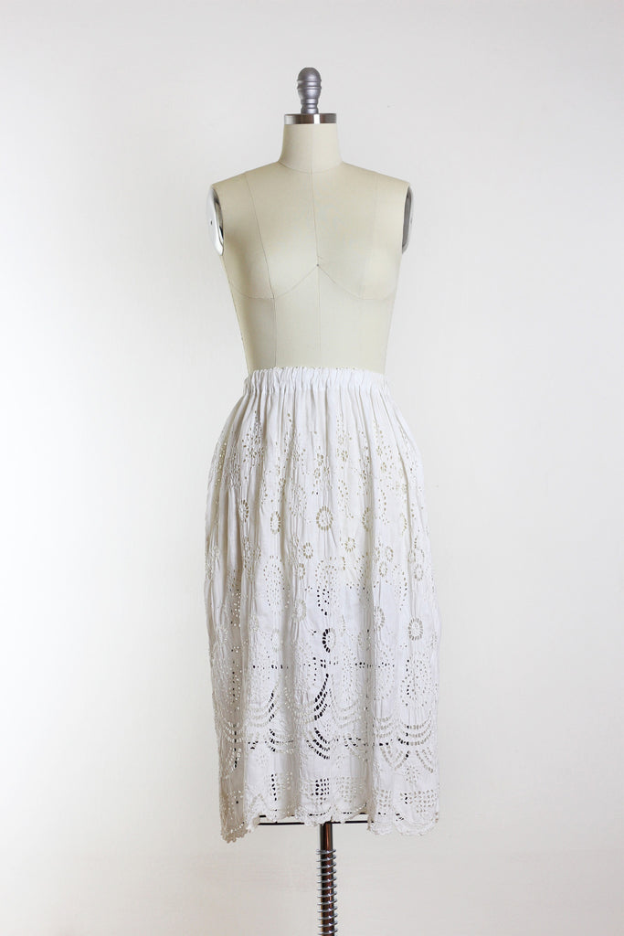 1900's Cutwork Lace Petticoat Skirt