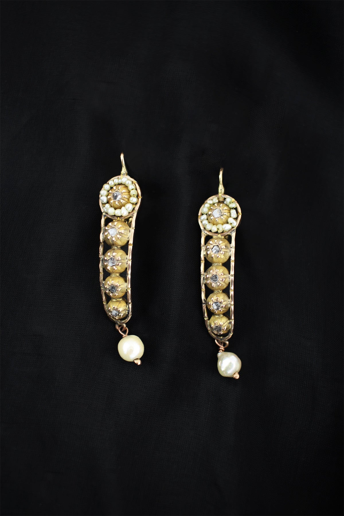 antique inc ullmann victorian john pearl m briolette product diamond earrings