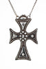 Incredible Georgian Era Antique Cut Steel Maltese Cross Pendant Necklace