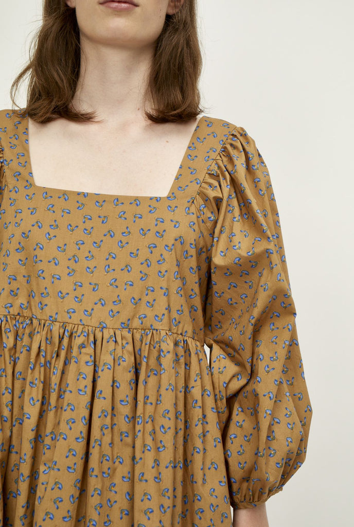 The Merle Dress - Floral Khaki
