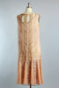 1920s Hand Beaded Silk Chiffon Flapper Dress