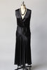 1920s Satin Little Black Art Deco Dress