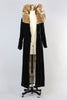 Dazzling 1920s Silk Velvet Opera Coat with Gold Sequin Collar