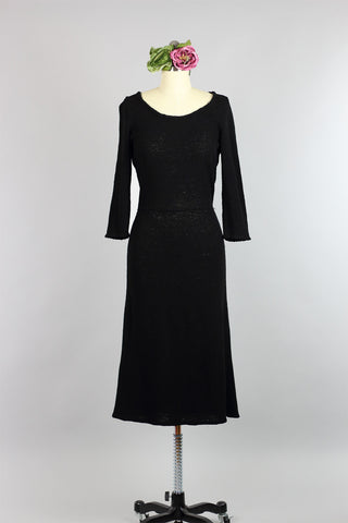 Elegant 1930s Wool Knit Dress