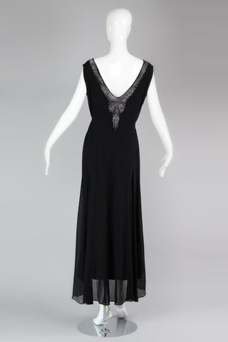 Exquisite Late 20s, Early 1930s English Couture Beaded Chiffon Gown by Norman