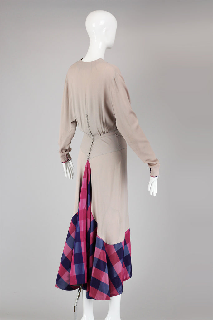 Rare 1930s Old Hollywood Jean Carol by Peggy Hunt Crepe Gown