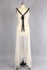 1930s Silk Chiffon Bias Cut Movie Star Gown