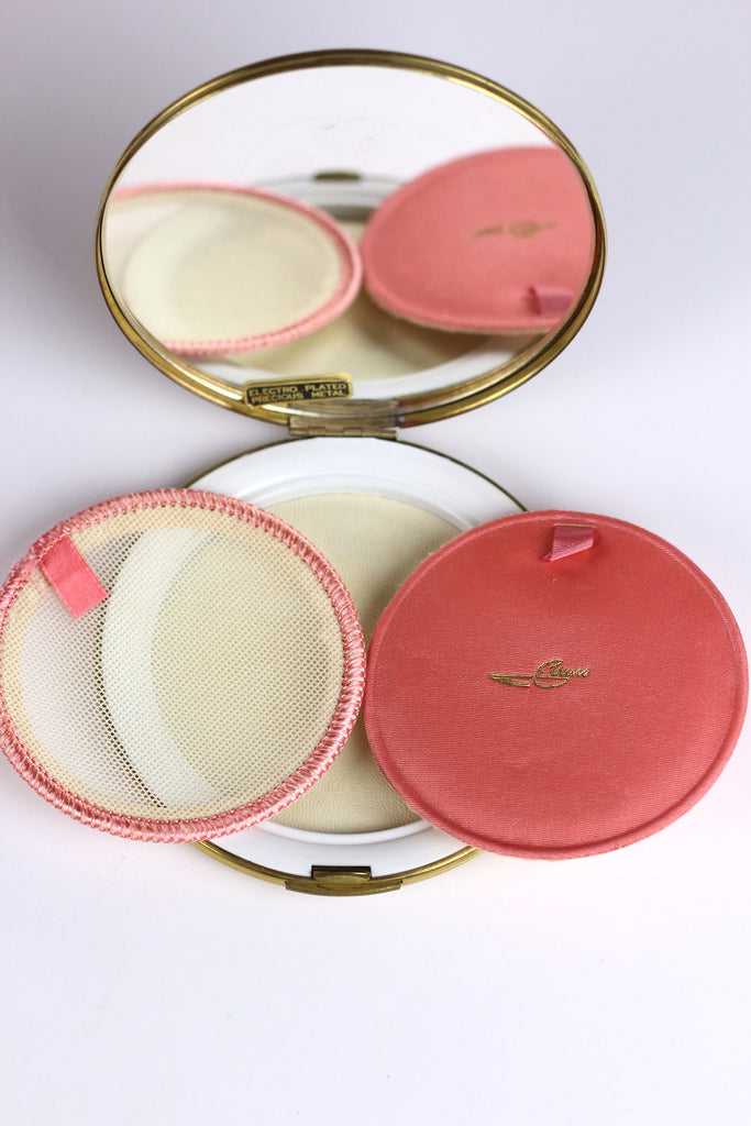 1940s Vintage Evans Electroplated Compact