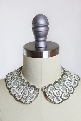 Baar & Beards 1950s Silk Beaded Collar