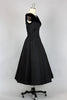 Ultra Chic 1950s Formal Gown with Velvet Trim