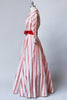 Rare 1950s New Look Striped Taffeta House Coat Dress