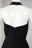 RESERVED For Tammara- Rare 1950s Lilli Ann Black Satin Halter Dress