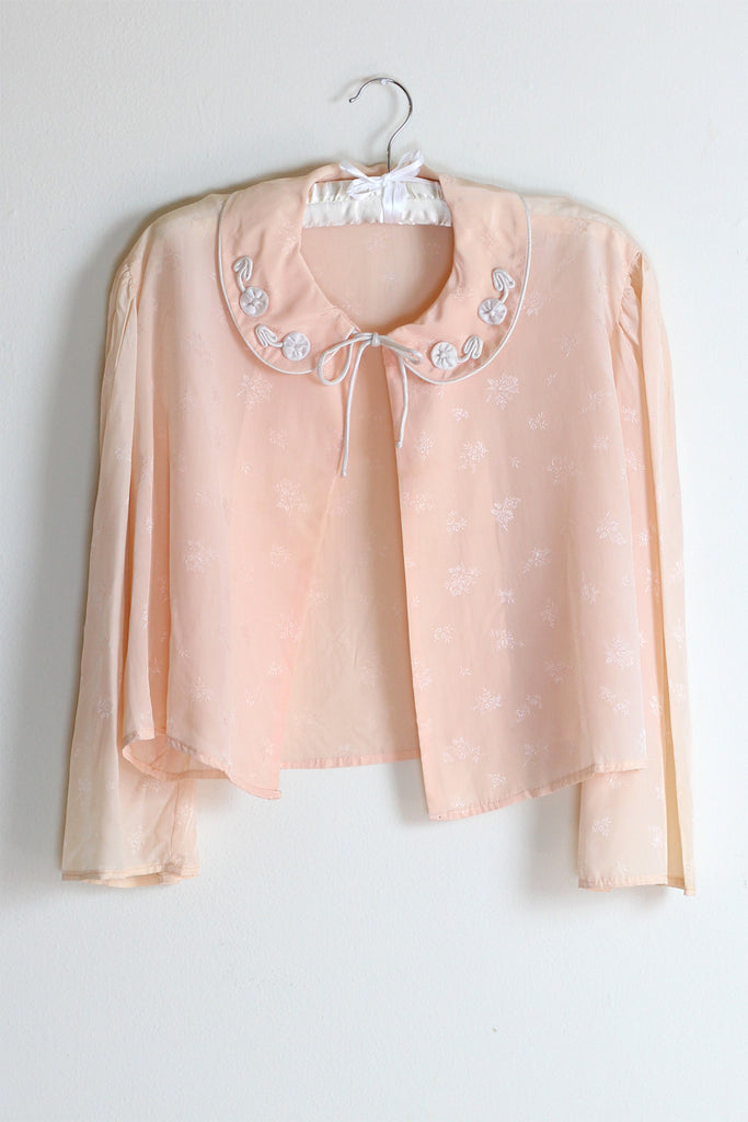 The Emily 1930s Silk Jacquard Bed Jacket