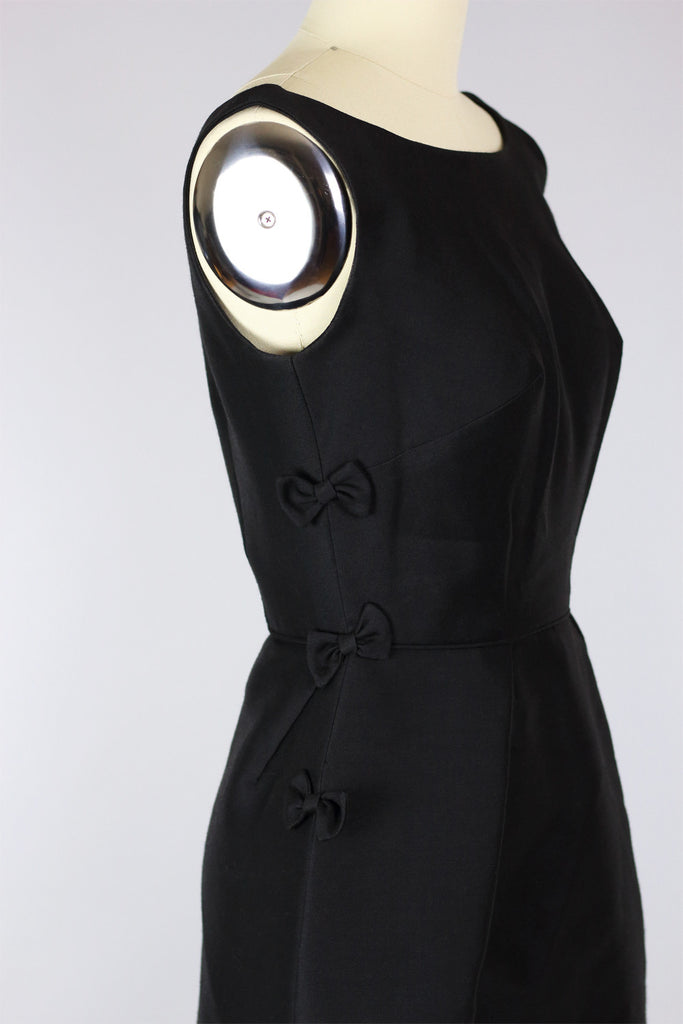 1960s Little Black Dress with Bows