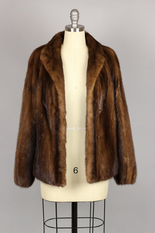 Classic 1960s Sable Fur Jacket Coat