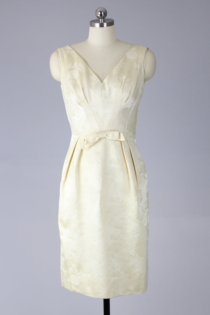 1960s Satin Brocade Dress