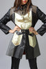 Rare Vintage 1960s-1970s Metallic Leather Coat