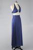 Adorable 1940s-1950s Navy Polka Dot Play Suit with Maxi Skirt