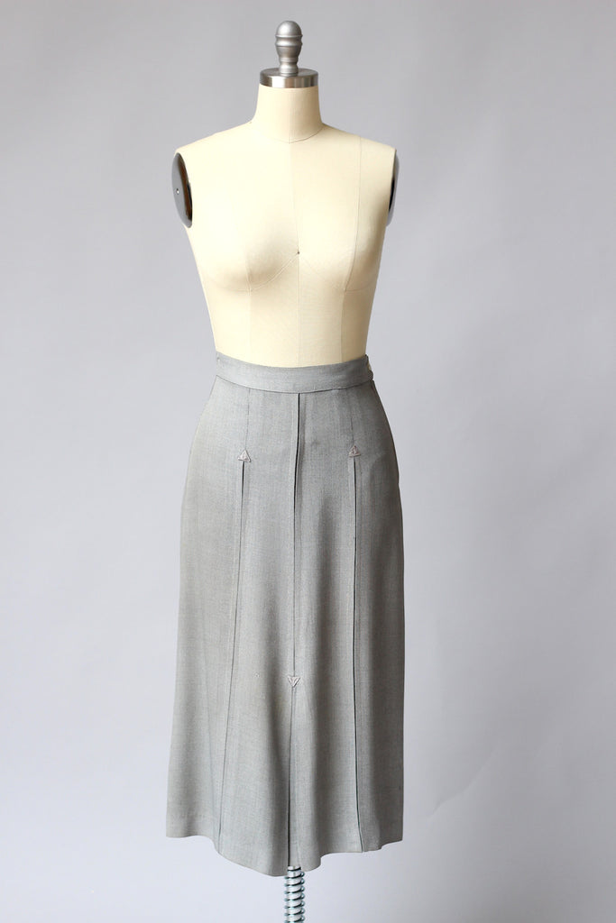 Classic and Chic 1940s WW2 Wool Skirt