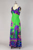RARE 1960s Psychedelic Print Summer Beach Hawaiian Dress