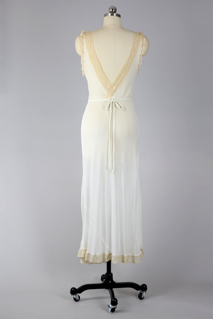 Dandelion Dream 1930s-40s Crushed Silk Gown