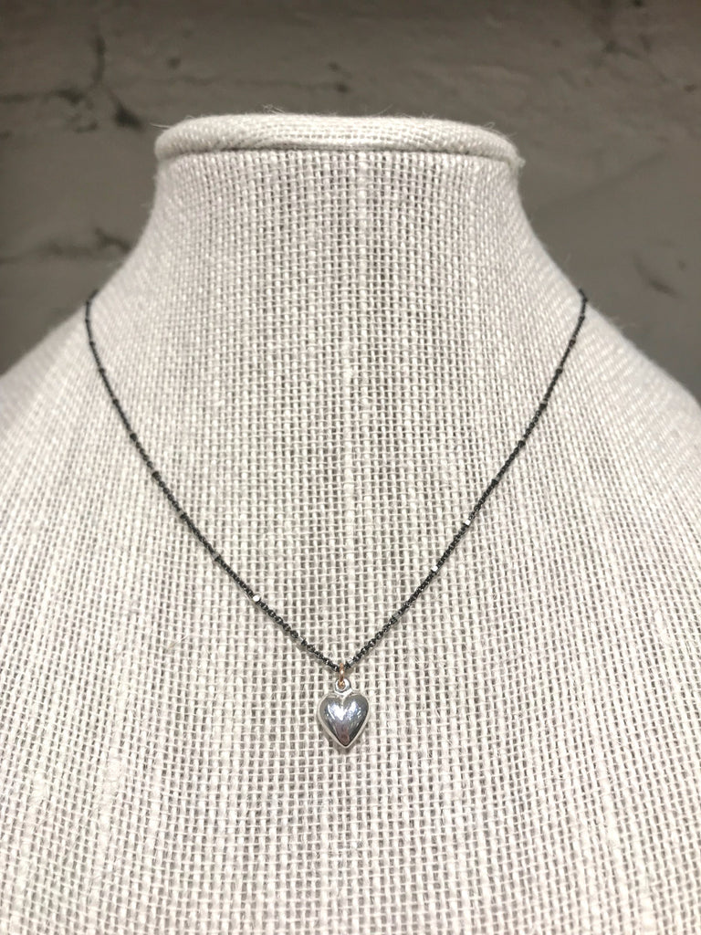 Delicate Sterling Heart Necklace