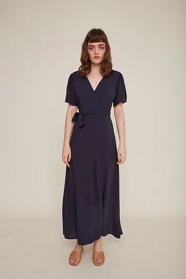 Silvia Wrap Dress - Navy