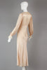 1930s Bias Cut Liquid Silk Charmeuse French Lace Night Gown