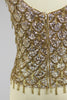 Supreme 1960s Gold Sequin Hand Beaded Top