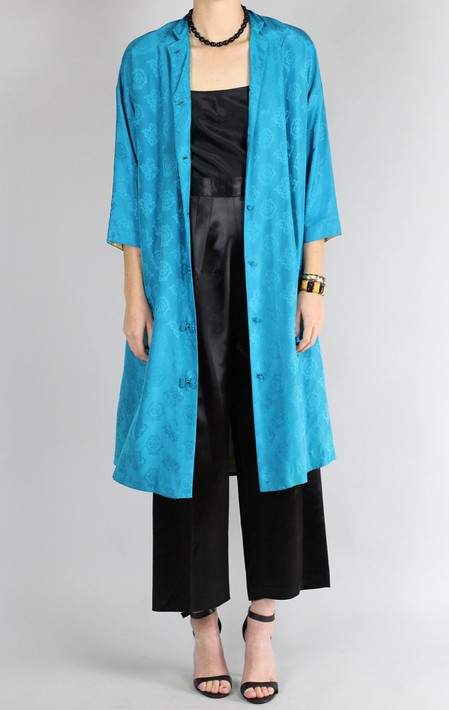 1960s Chinese Silk Coat by Dynasty for I. Magnin