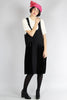 1920s Silk and Velvet Pinafore Dress