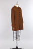1960s Chestnut Brown Bonwit Teller Mini Shift Dress