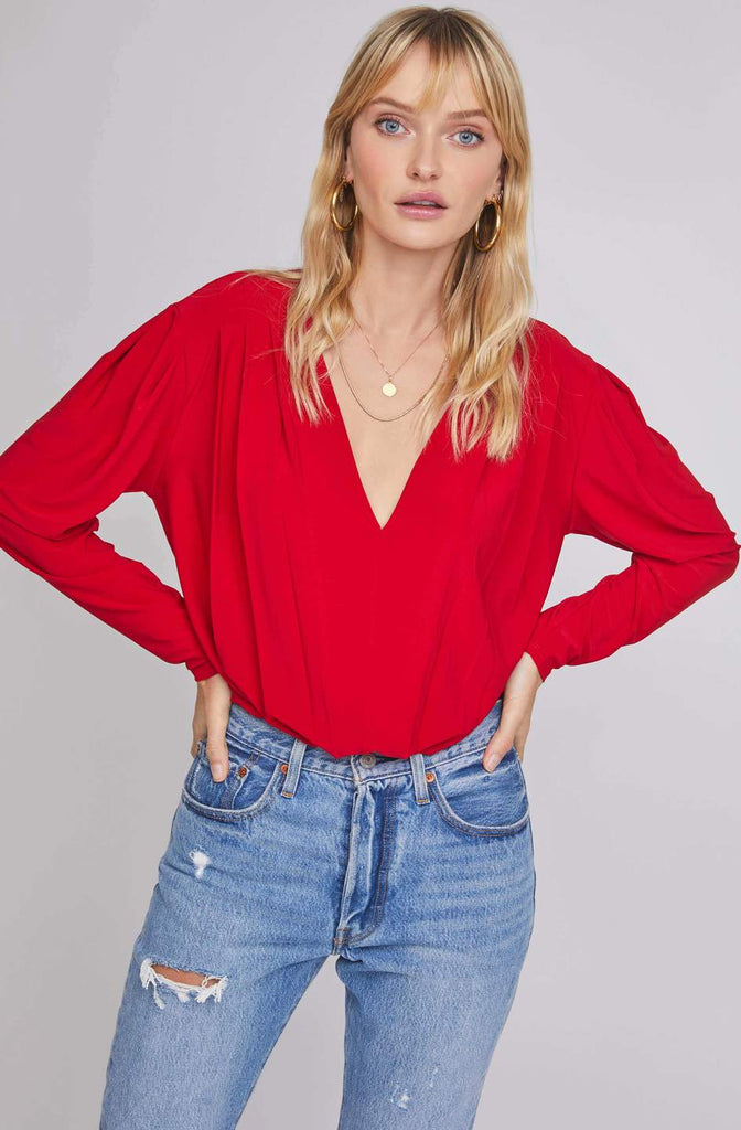 Maia Red Bodysuit