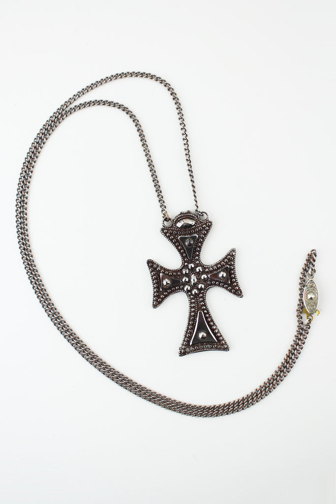 necklace rugged steel cross stainless ebay heavy silver maltese black iron bhp pendant