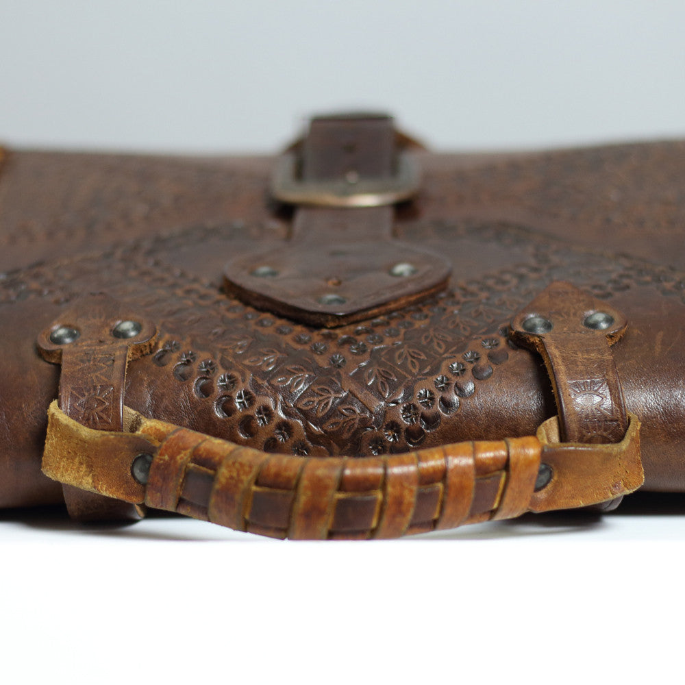The Third Eye Antique Stamped Leather Bag