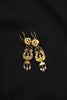 Darling Victorian Gold Lyre Earrings with Seed Pearls