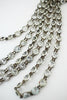 1920s Flapper Long Diamond Glass Crystal Paste Sautoir Necklace