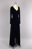 Floor Length Black Velvet Witchy Dress