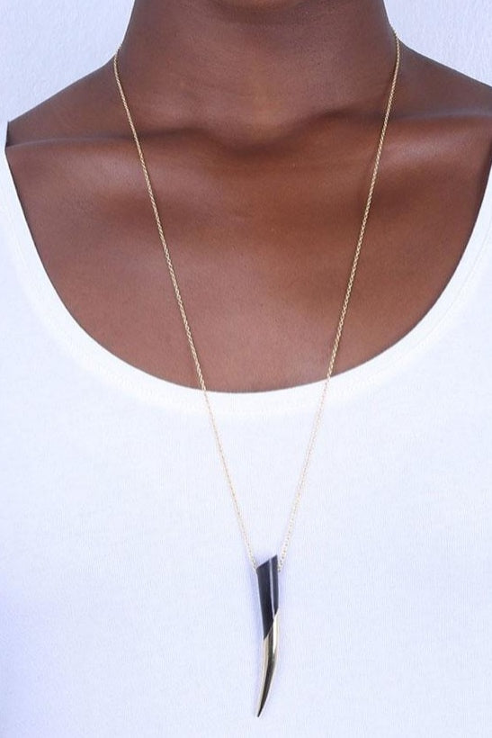 Soko Dalili Dipped Horn Necklace